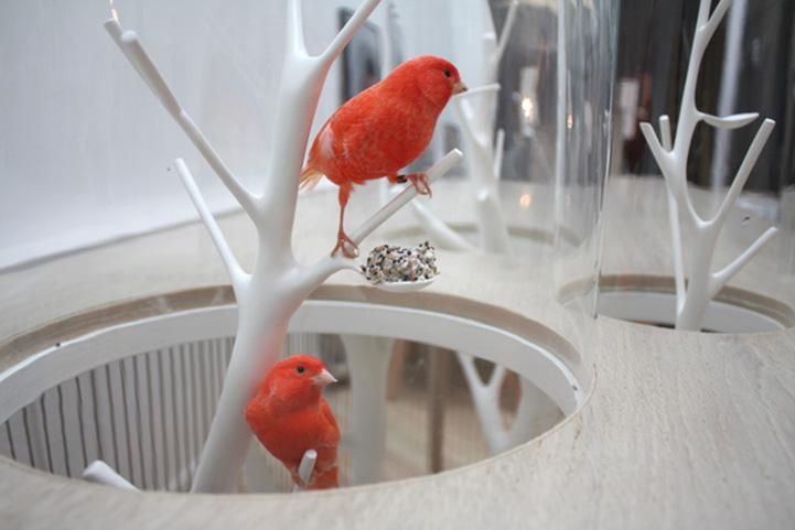 Kavez za ptice u stolu we love design we love design for We love design