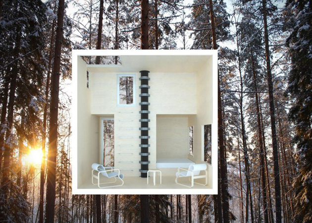 Mirrorcube-Tree-Hotel-in-Sweden-3